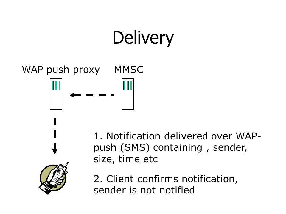 Delivery WAP push proxyMMSC 1.