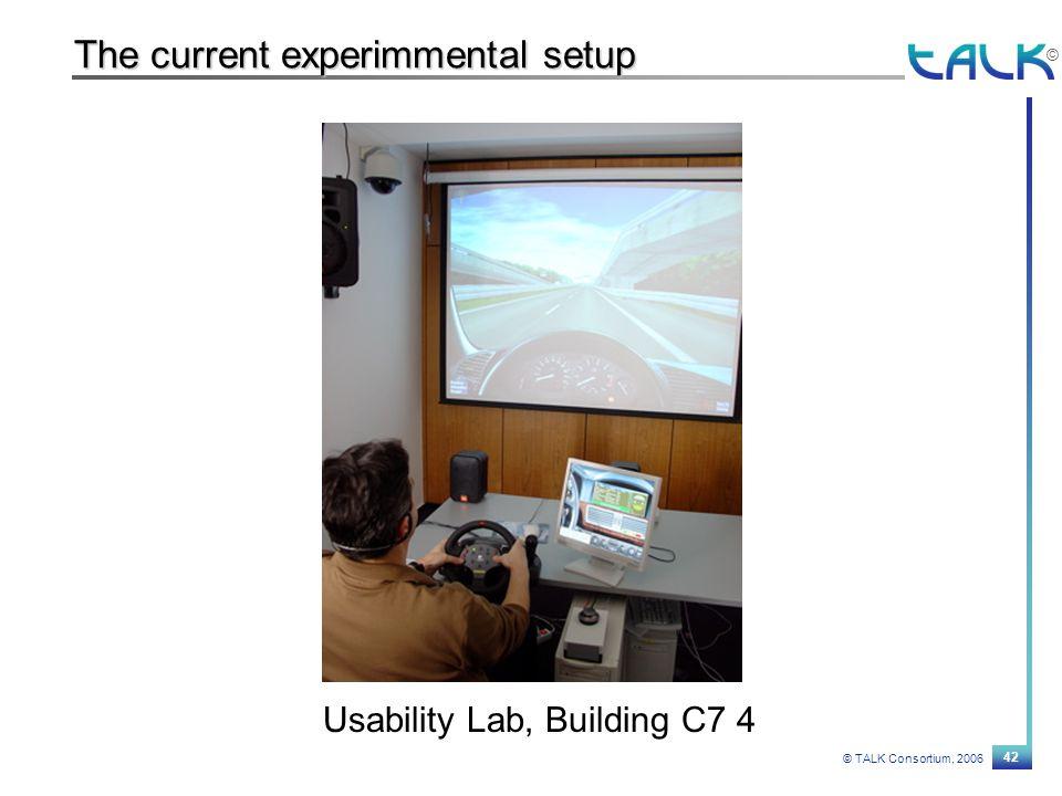 42 © TALK Consortium, 2006 © The current experimmental setup Usability Lab, Building C7 4