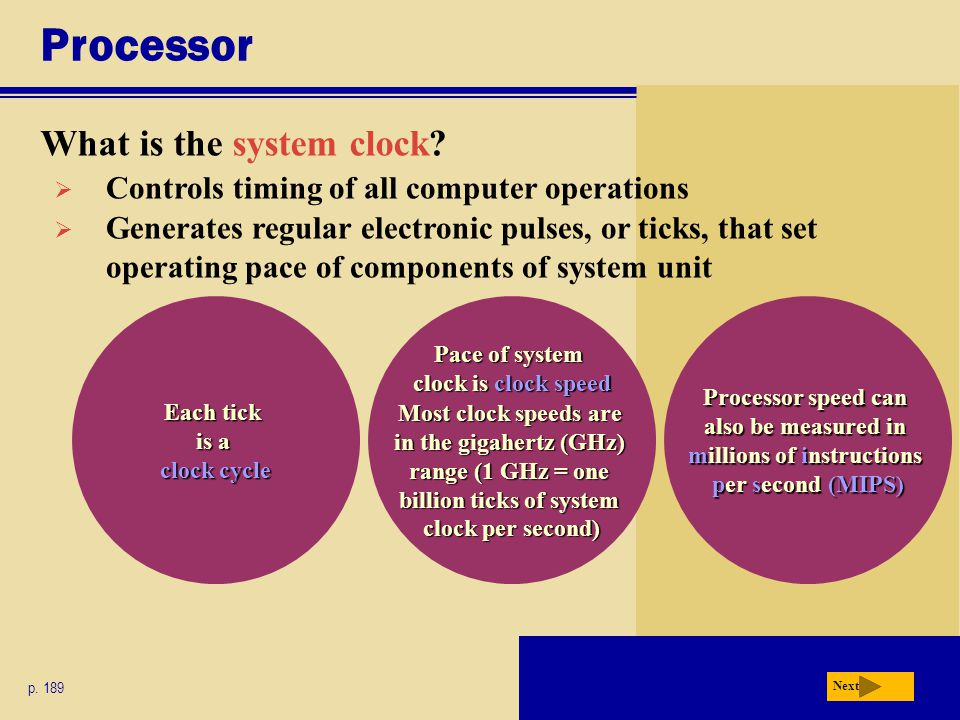 Processor What is the system clock.p.