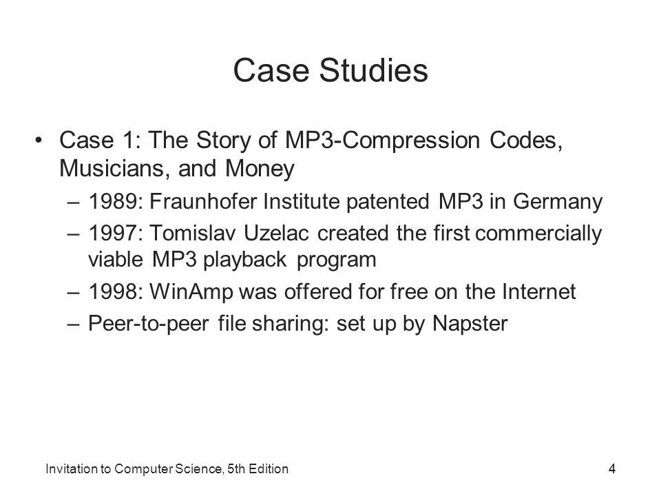 Invitation to Computer Science, 5th Edition5 Figure 17.1 Peer-to-Peer File Sharing Created by Napster