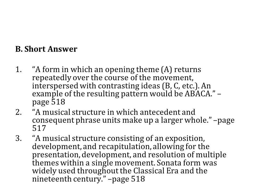 B.Short Answer 4.