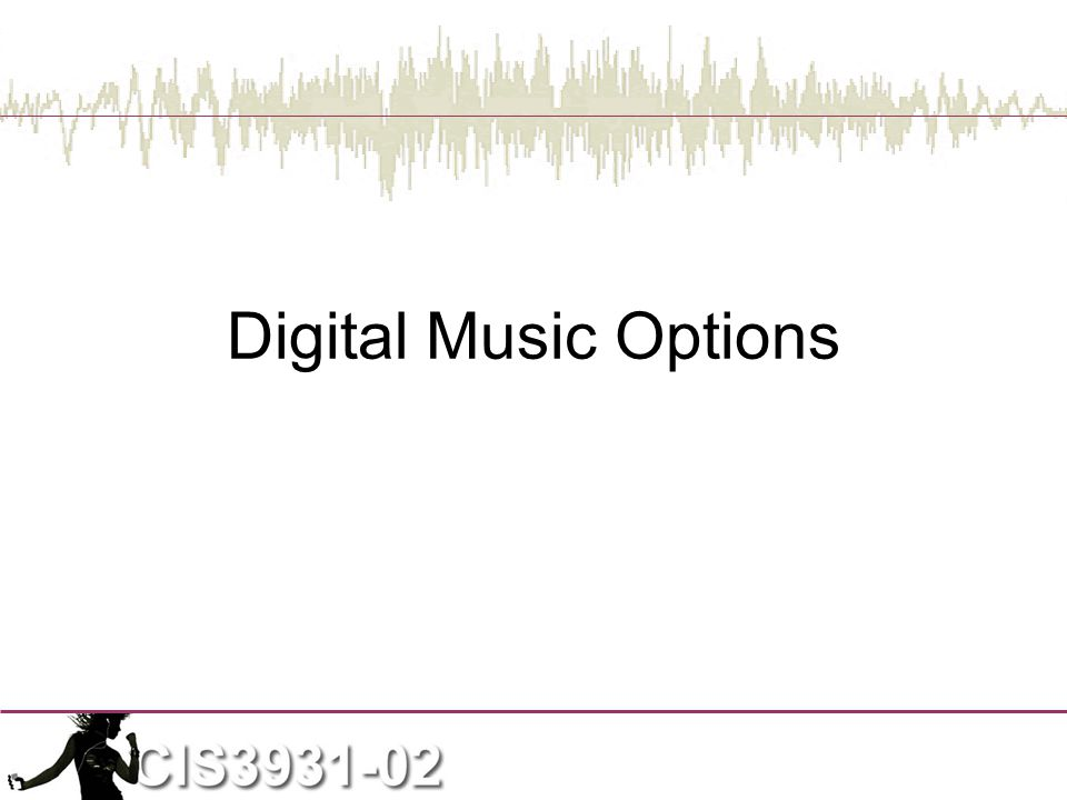 Digital Music Options
