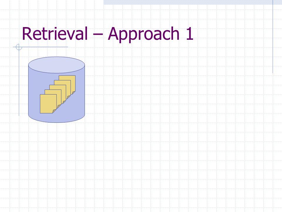 Retrieval – Approach 1