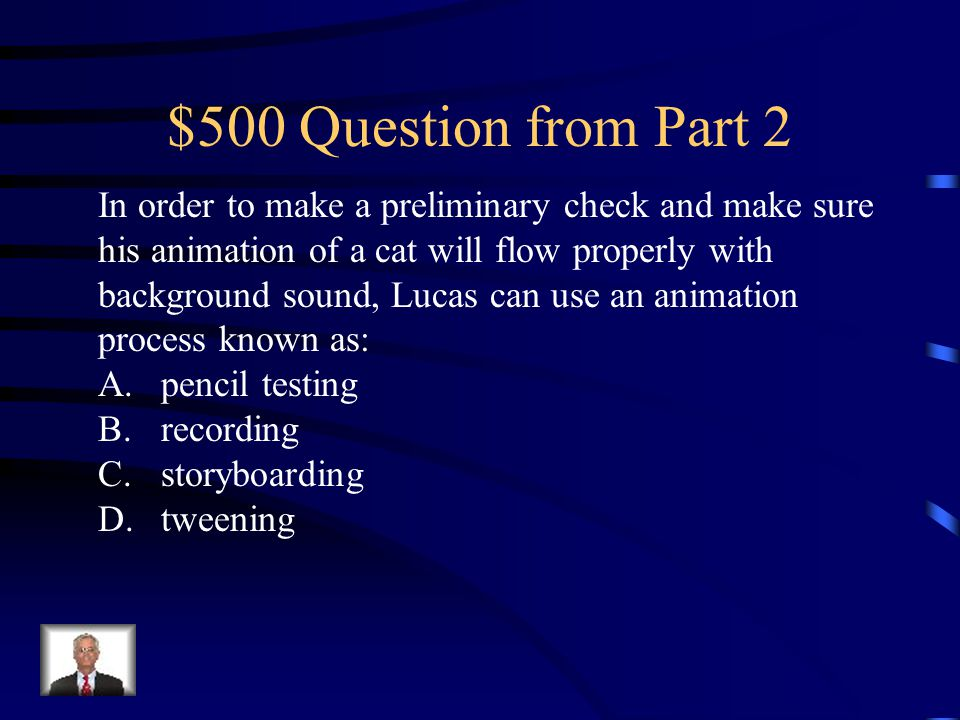 $400 Answer from Part 2 D. MP3 or WAV