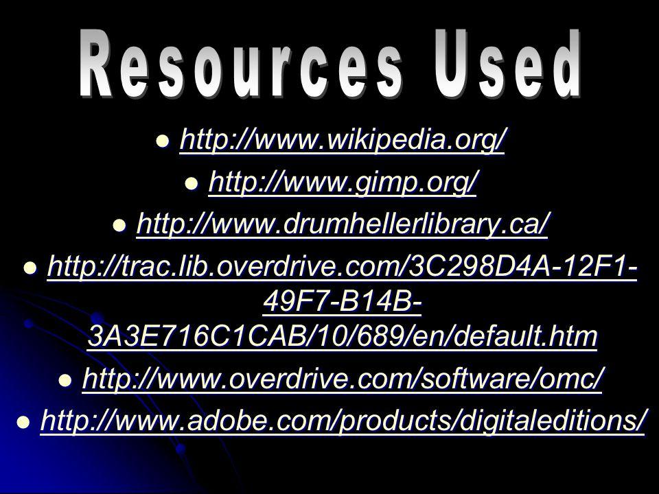 http://www.wikipedia.org/ http://www.wikipedia.org/ http://www.wikipedia.org/ http://www.gimp.org/ http://www.gimp.org/ http://www.gimp.org/ http://ww