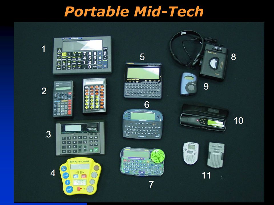 Portable Mid-Tech Learning Tools