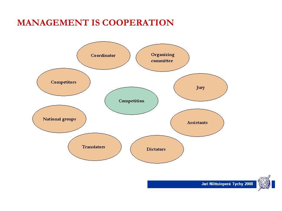 Jari Niittuinperä Tychy 2008 MANAGEMENT IS COOPERATION
