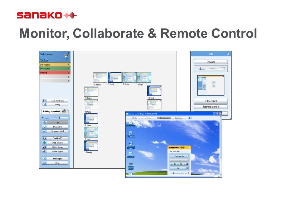 Monitor, Collaborate & Remote Control