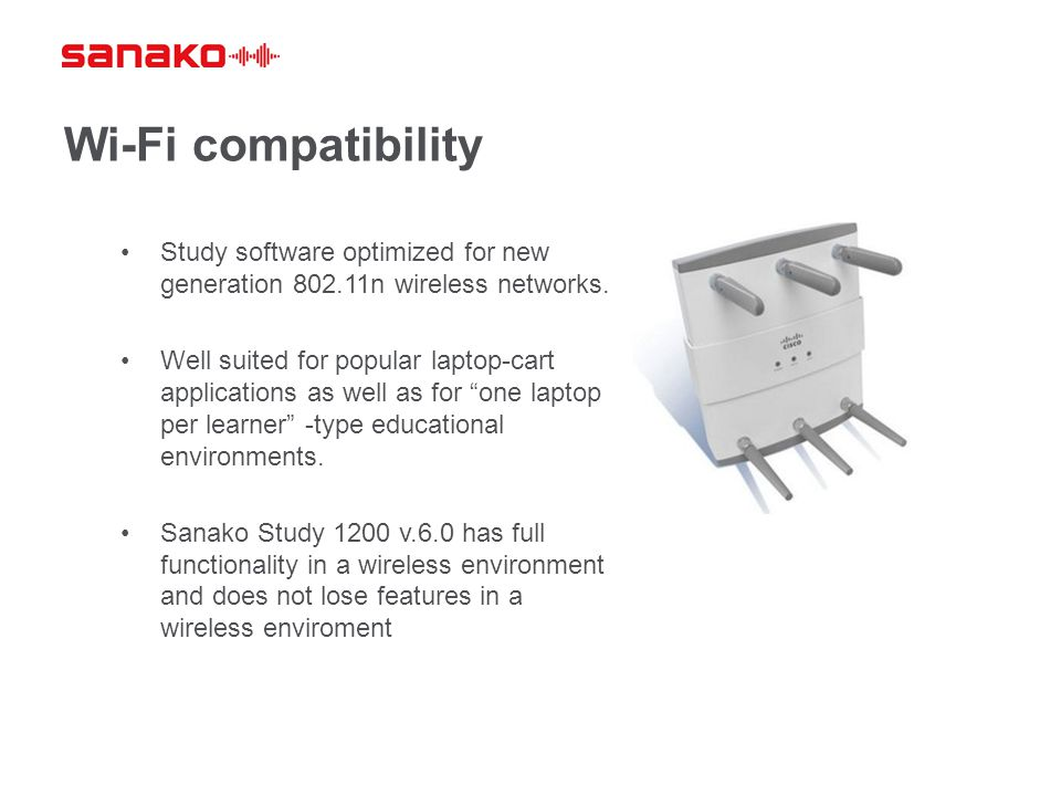 Wi-Fi compatibility Study software optimized for new generation 802.11n wireless networks. Well suited for popular laptop-cart applications as well as
