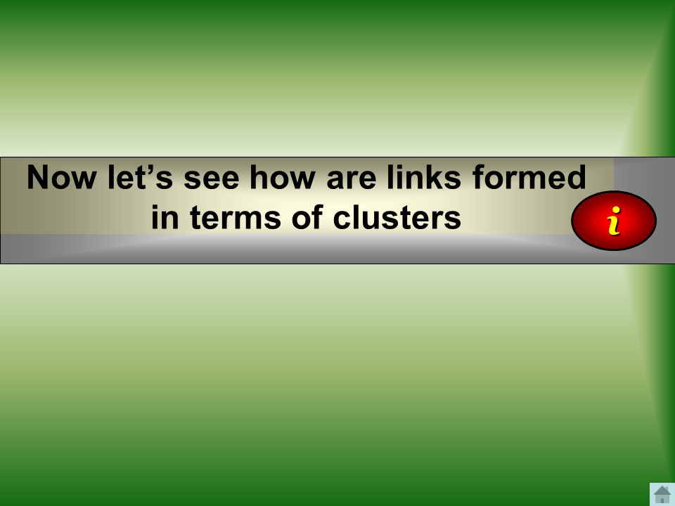 Now let's see how are links formed in terms of clusters i