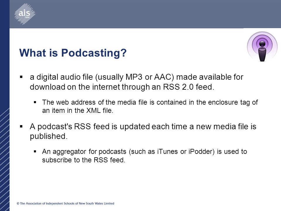 What is Podcasting.