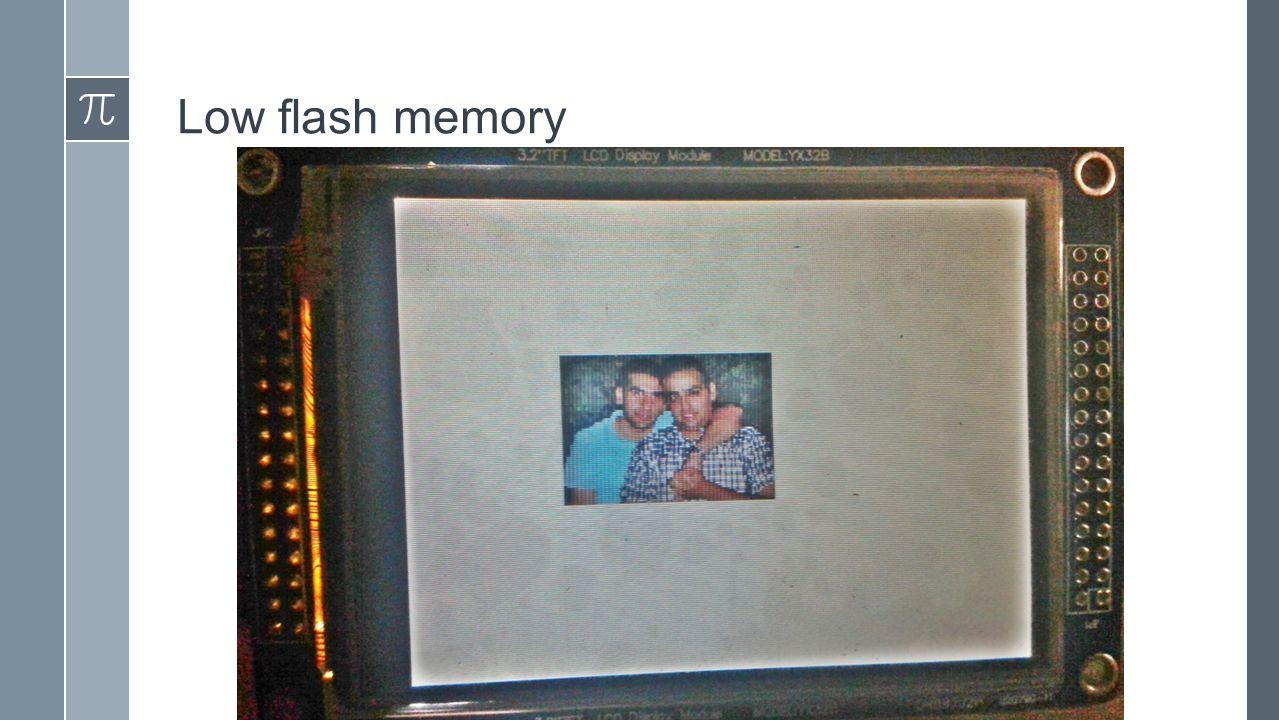 Low flash memory