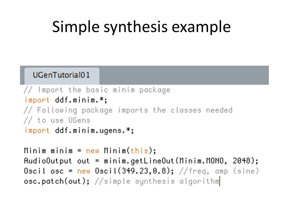 Simple synthesis example