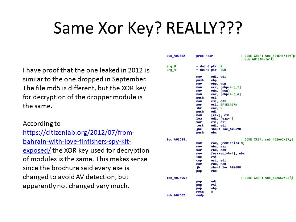 Same Xor Key. REALLY .