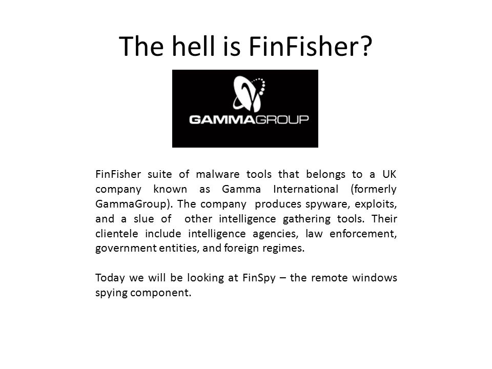 The hell is FinFisher.