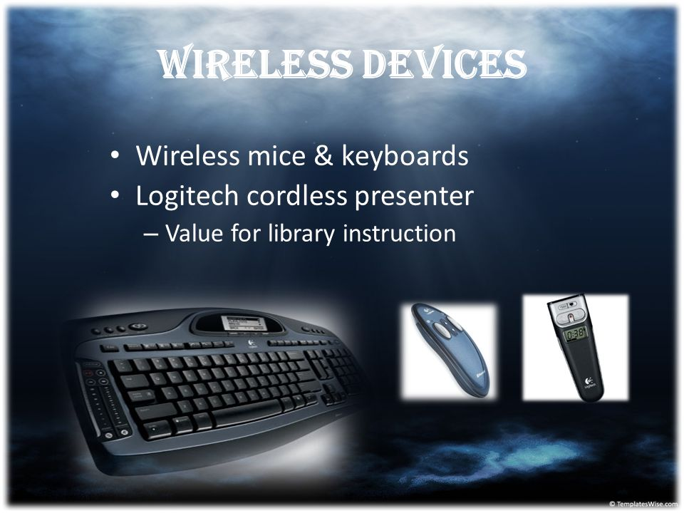 Wireless devices Wireless mice & keyboards Logitech cordless presenter – Value for library instruction