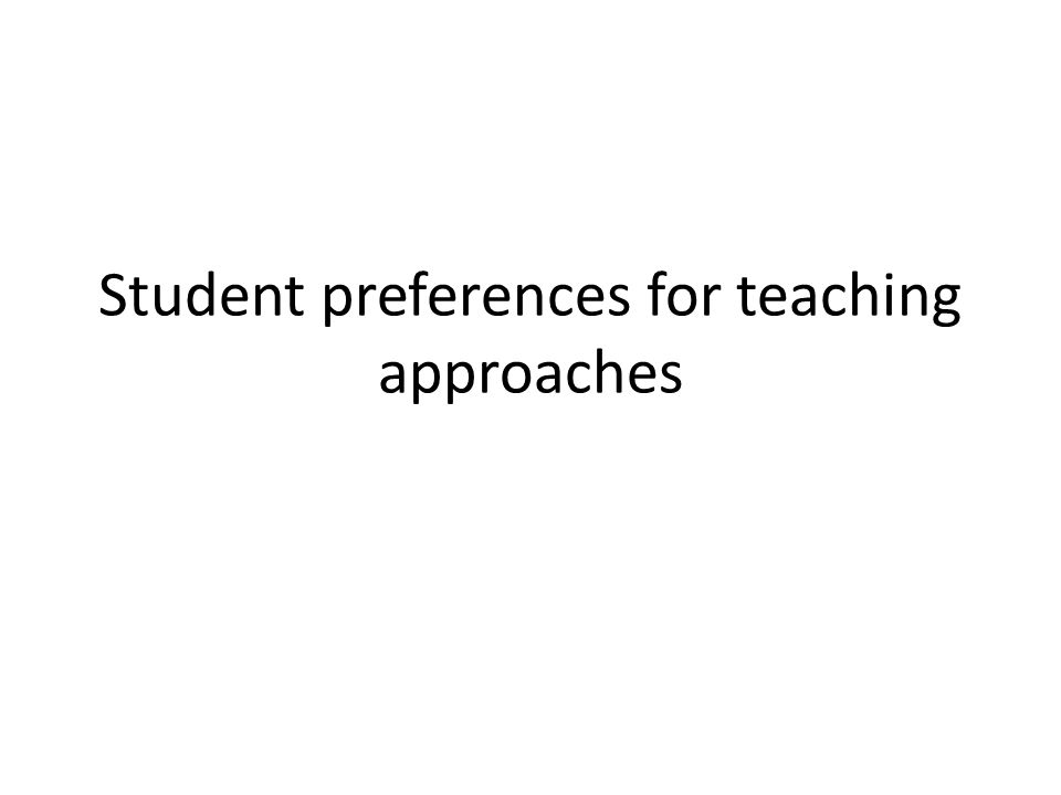 Student preferences for teaching approaches