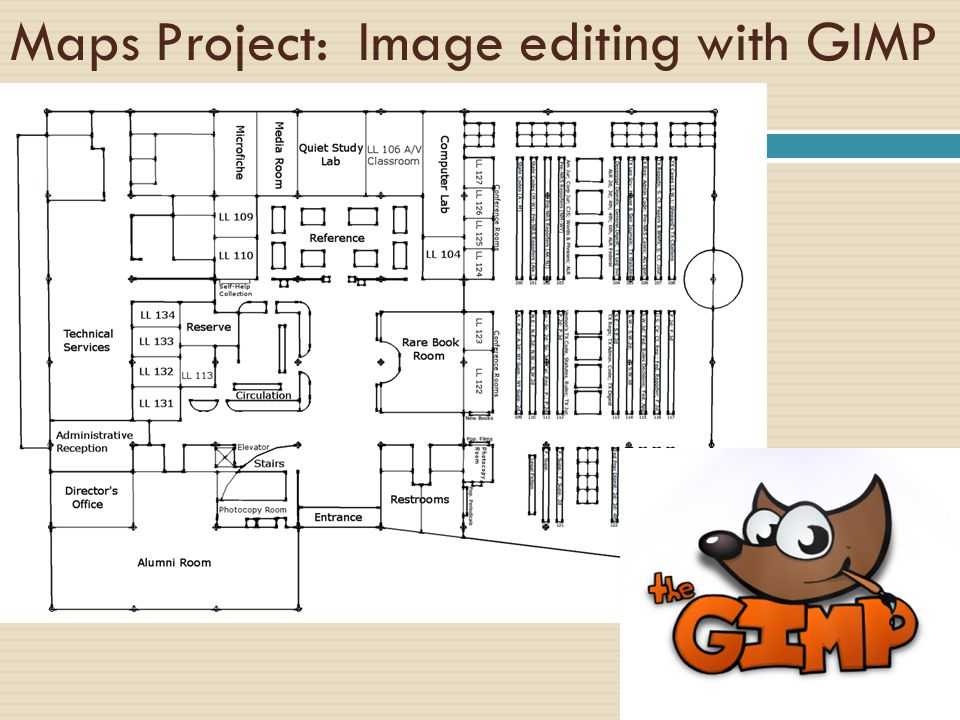 Maps Project: Image editing with GIMP