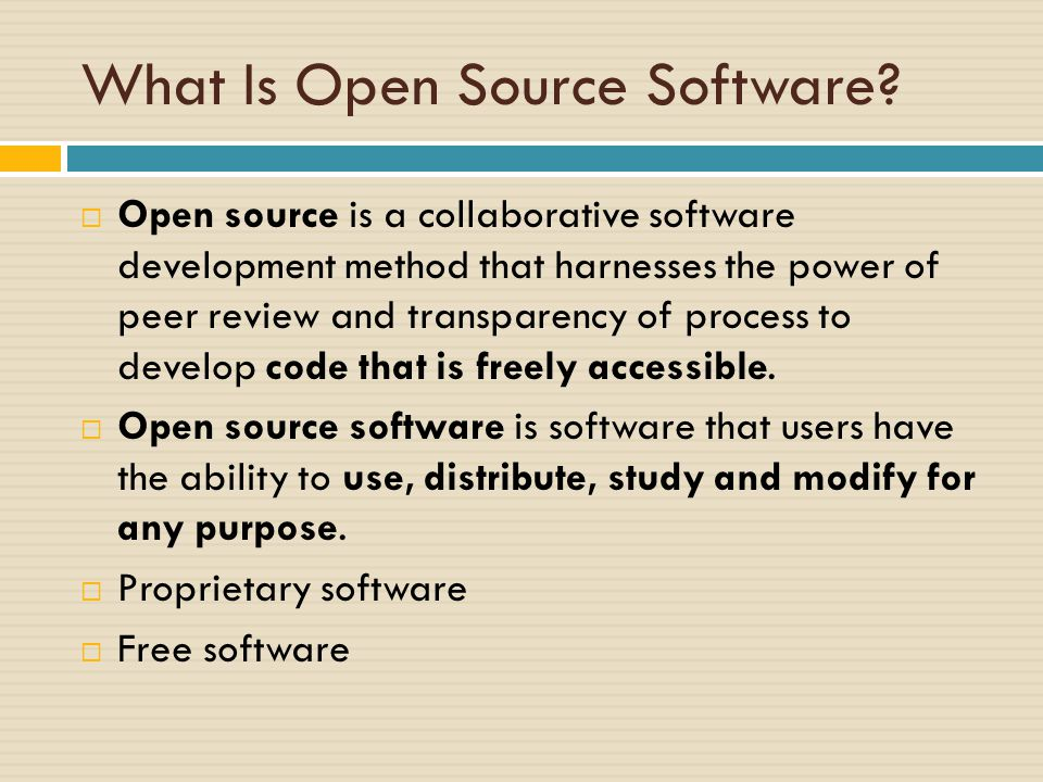 What Is Open Source Software.