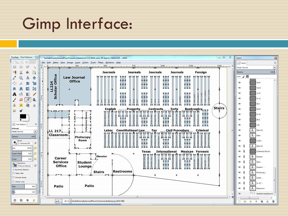 Gimp Interface: