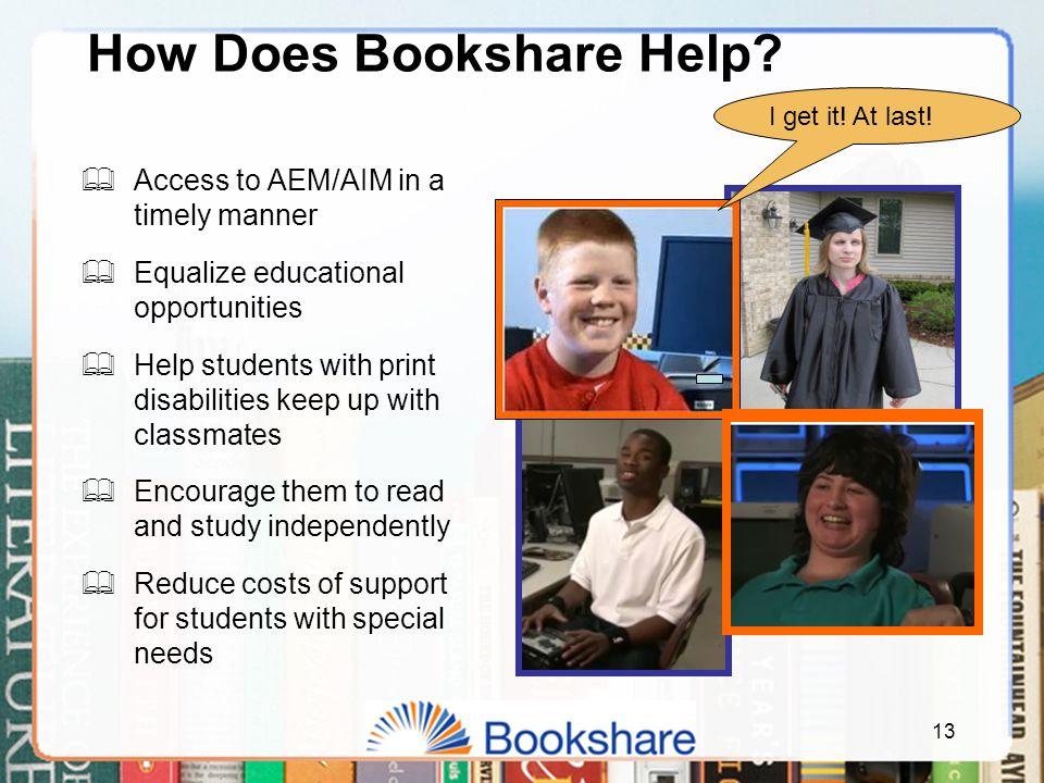 13 How Does Bookshare Help.