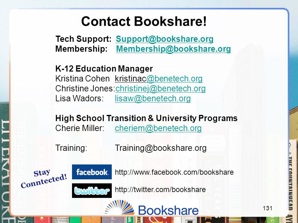 131 Contact Bookshare.