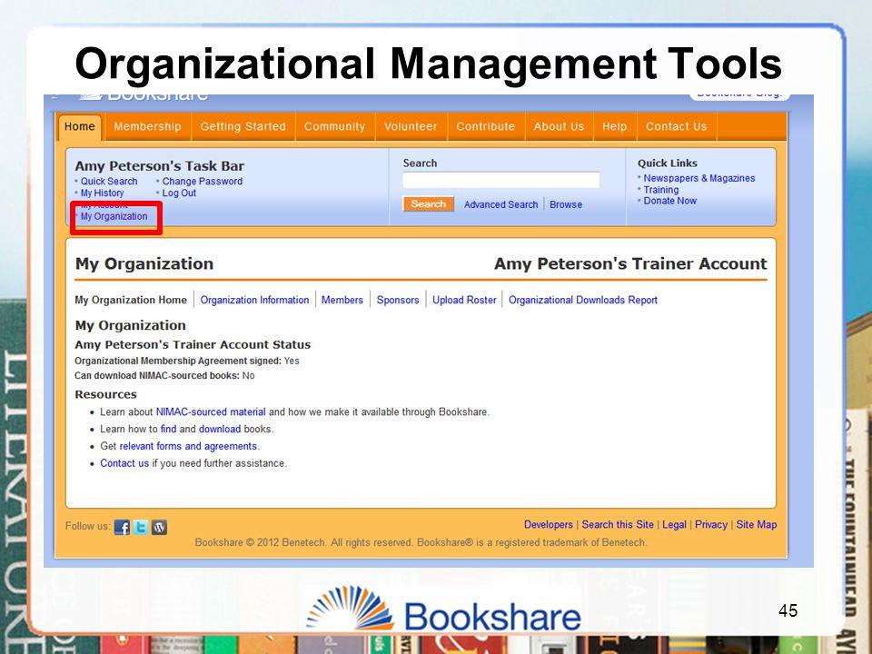 45 Organizational Management Tools