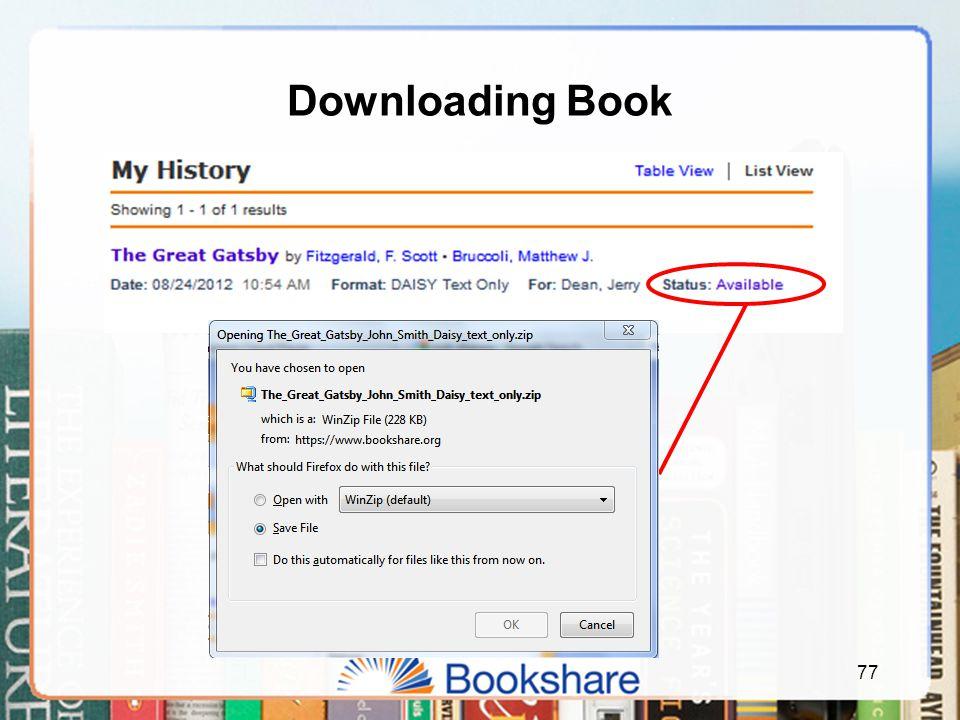 Downloading Book 77
