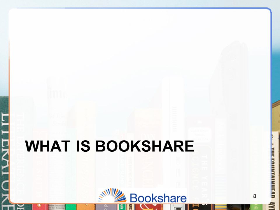 49 What is available in the Bookshare Library  Textbooks  More than 4,000 NIMAC textbooks with images  More than 7,000 non-NIMAC textbooks  Contributions from universities and schools  Teacher-Recommended Reading  Special Collections  New York Times Best Sellers  Newbery Winners  Caldecott Winners  Young Reader's Choice  Spanish books  Newspapers and magazines  Available through partnership with NFB Newsline  270 national and regional newspapers and magazines Bookshare is committed to high-quality books.