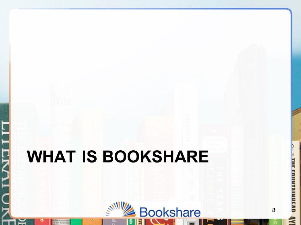 WHAT IS BOOKSHARE 8