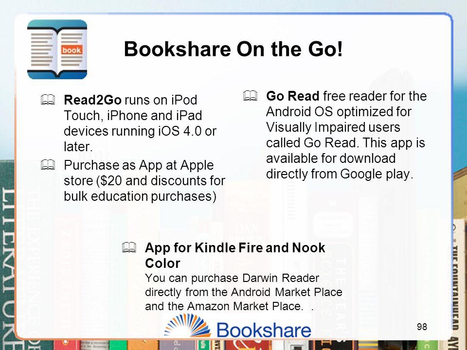 Bookshare On the Go.