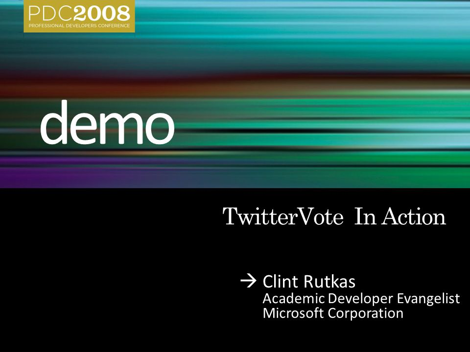  Clint Rutkas Academic Developer Evangelist Microsoft Corporation