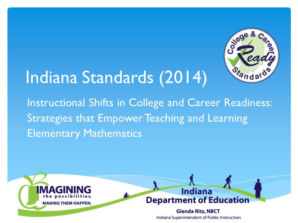 Where to find the Resources  Current Standards can be found at: http://www.doe.in.gov/standardshttp://www.doe.in.gov/standards  Mathematics Standards and Resources can be found at: http://www.doe.in.gov/standards/mathematics http://www.doe.in.gov/standards/mathematics  Content Framework Development Tools can be found at: http://www.doe.in.gov/content-framework-development-tool.pdf http://www.doe.in.gov/content-framework-development-tool.pdf  Online Communities of Practice can be found at: http://www.doe.in.gov/elearning/online-communities-practice http://www.doe.in.gov/elearning/online-communities-practice  Curriculum Resources can be found at: http://www.doe.in.gov/achievement/curriculum http://www.doe.in.gov/achievement/curriculum