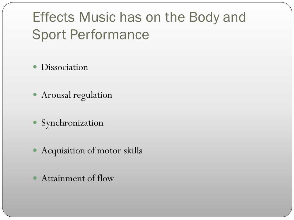 Pre-Workout Effects