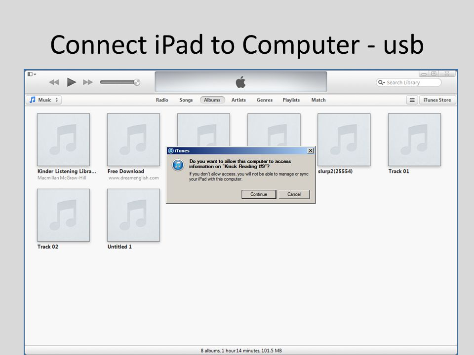 Connect iPad to Computer - usb