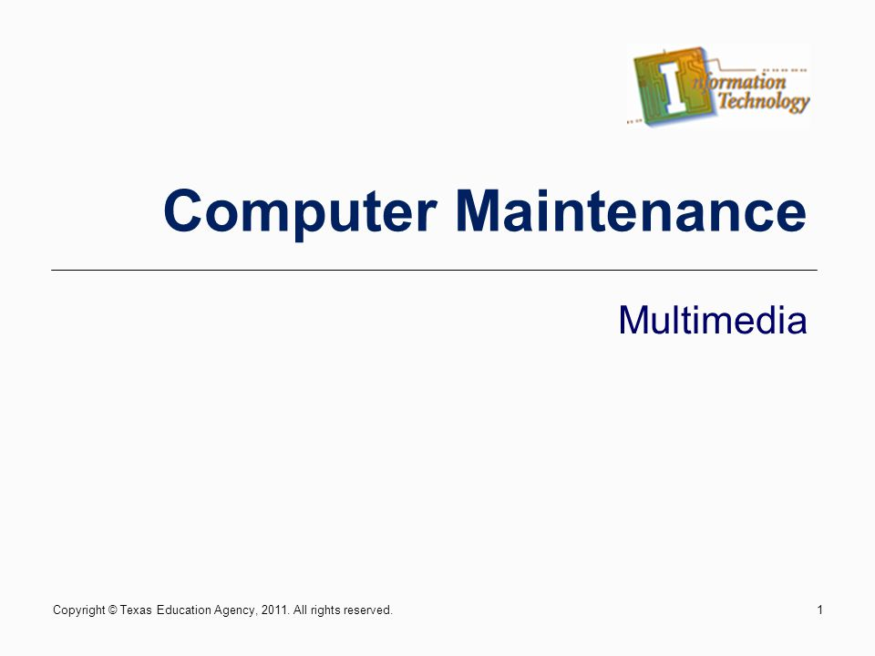 IT: Computer Maintenance - Multimedia22 Troubleshooting a video card If your monitor is not displaying information due to a malfunctioning video card, test your monitor on another computer first.