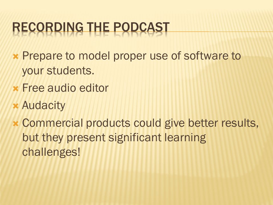  Prepare to model proper use of software to your students.