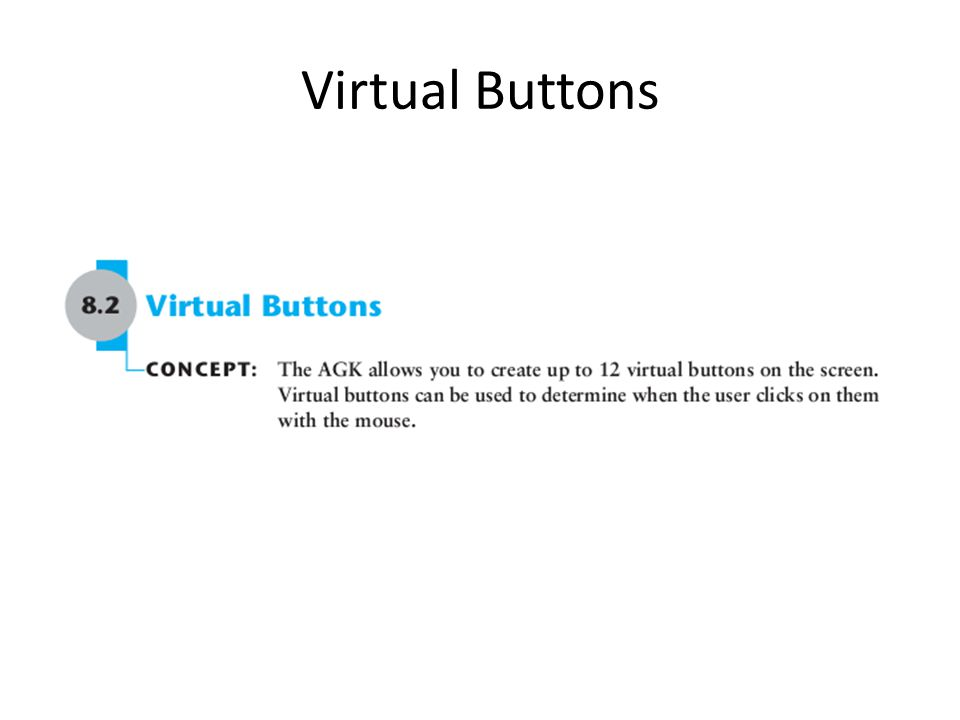 Virtual Buttons