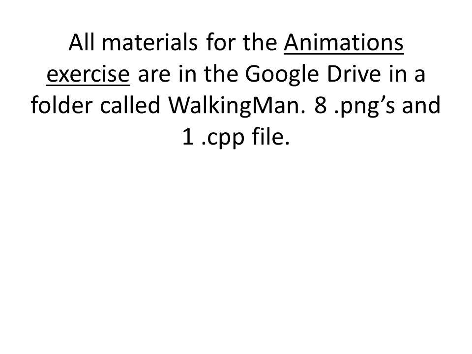 // This program demonstrates cel animation.