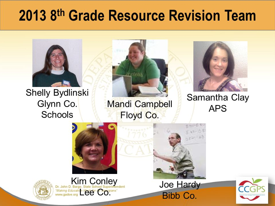 8 th Grade CCGPS Unit Revisions Webinar Overview of Comprehensive Course Guide & Unit 6: Linear Models and Tables