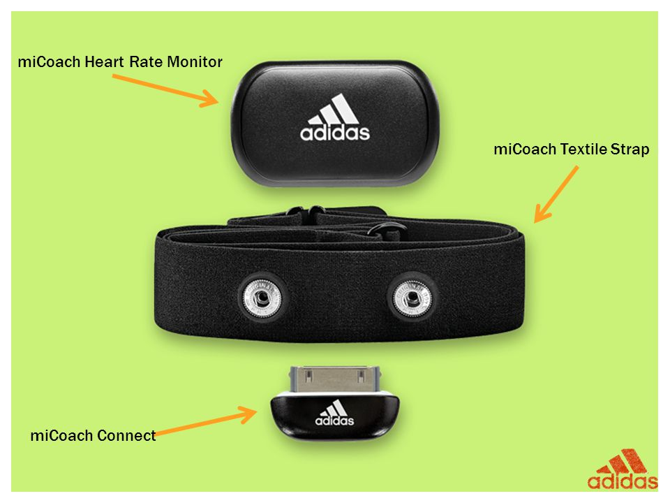 miCoach Heart Rate Monitor miCoach Textile Strap miCoach Connect
