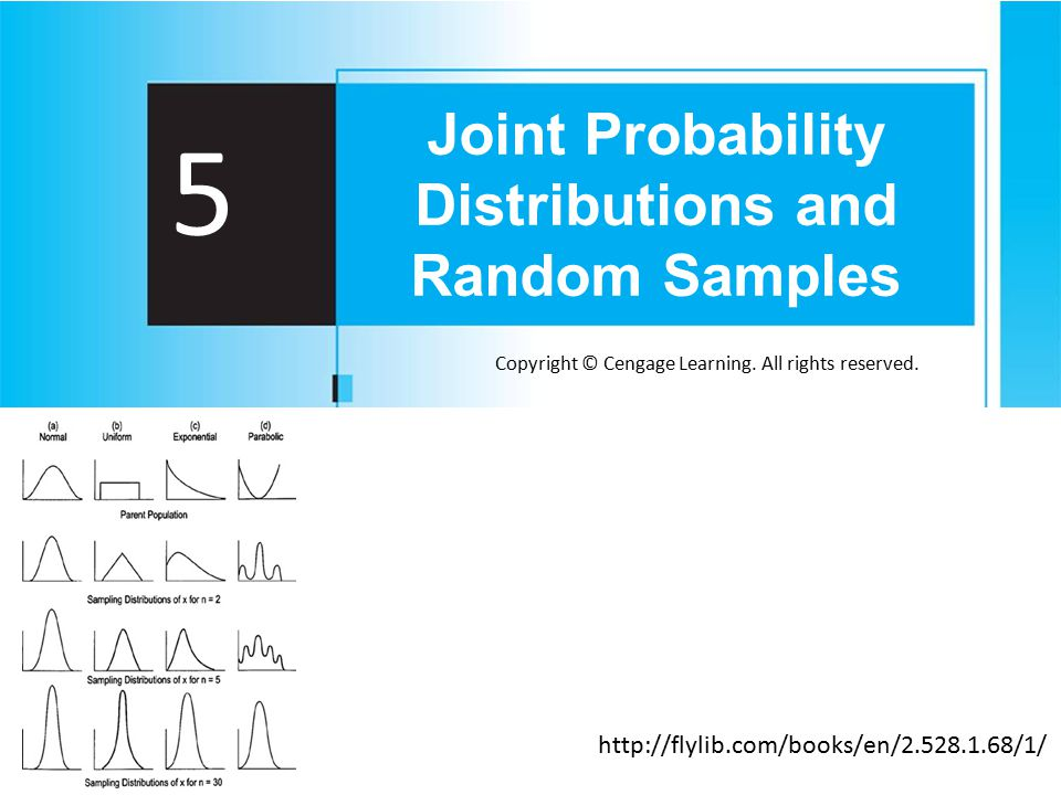 Copyright © Cengage Learning. All rights reserved. 5 Joint Probability Distributions and Random Samples http://flylib.com/books/en/2.528.1.68/1/