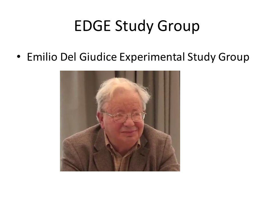 EDGE Study Group Emilio Del Giudice Experimental Study Group