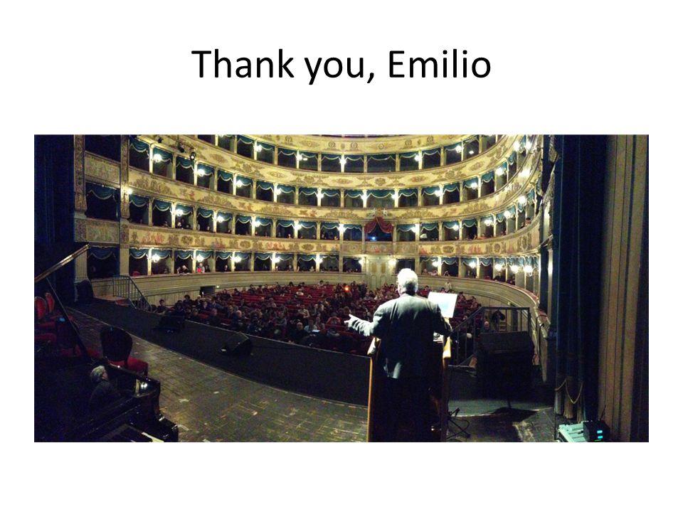 Thank you, Emilio