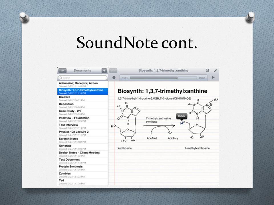 SoundNote cont.