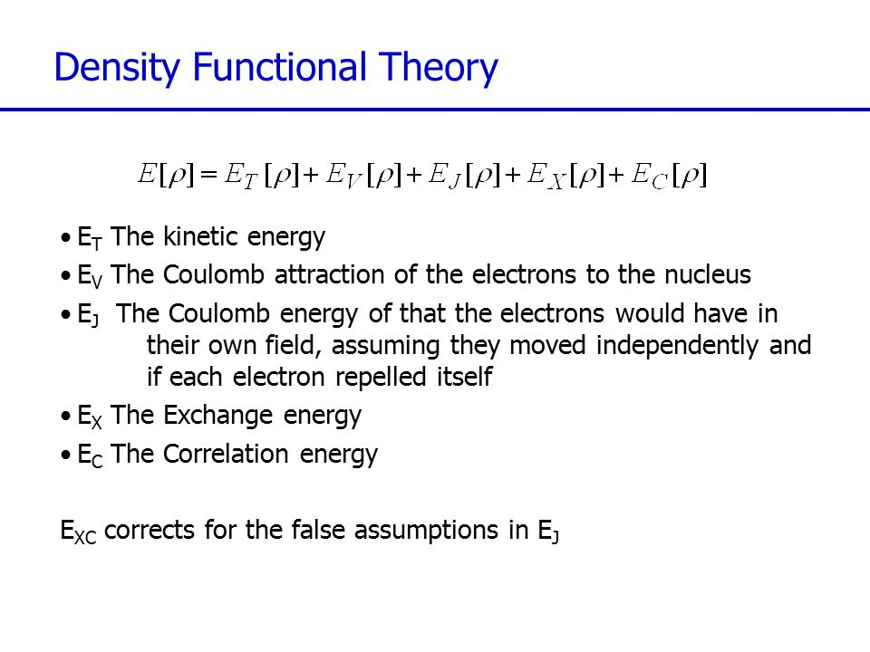 Møller-Plesset Perturbation Theory Although correlation energy is large on a chemical scale it is small compared to the total energy of an atom We can treat correlation as a perturbation to the HF Hamiltonian Expand the perturbation in : Møller-Plesset perturbation theories, MP2, MP3, MP4… are obtained by setting =1 and truncating at the 2 nd, 3 rd, 4 th … order terms in for the wavefunction ( +1 for the energy).