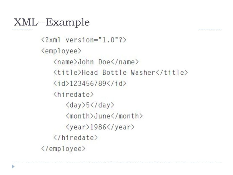 XML--Example