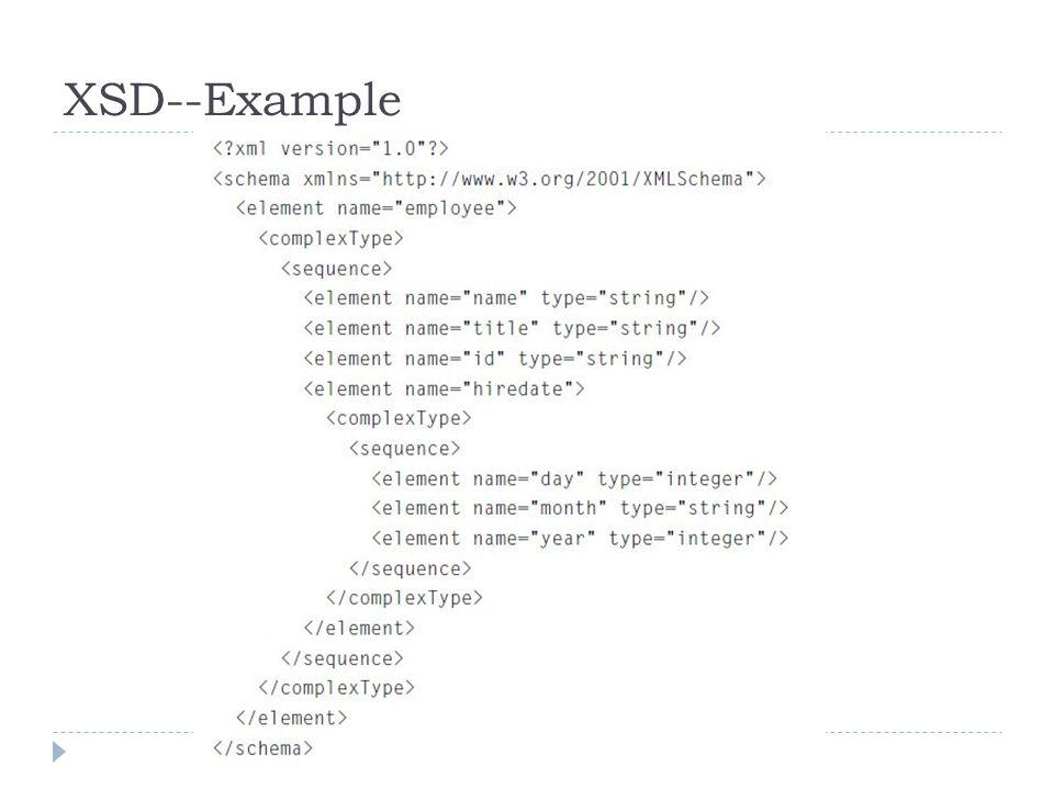 XSD--Example