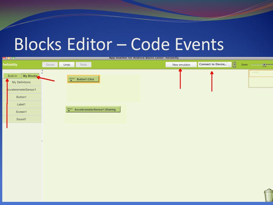Blocks Editor – Code Events
