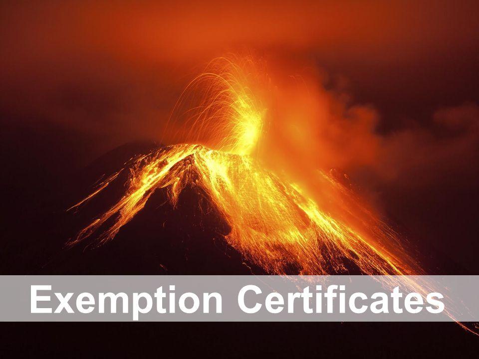 Exemption Certificates